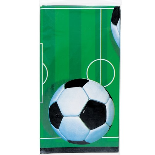 [Soccer Party Plastic Tablecloth, 84