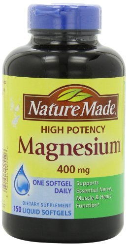Nature Made High Potency Magnesium 400 mg, Pack of 3 by Nature Made