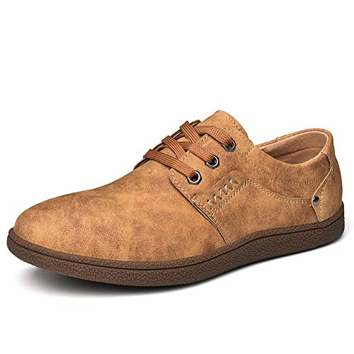 for Oxford Casual Soft Fashion in Shoes Shoes Marrone Mocassini Slip Men con Dress Uomo Pelle 7vqx4Aw4B