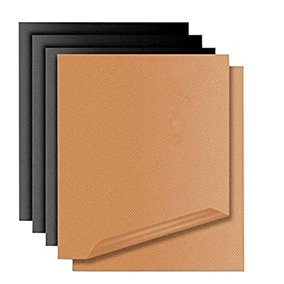 Copper Grill Mat for Gas Grills and Bake Mats Set of 5 by Miroksh