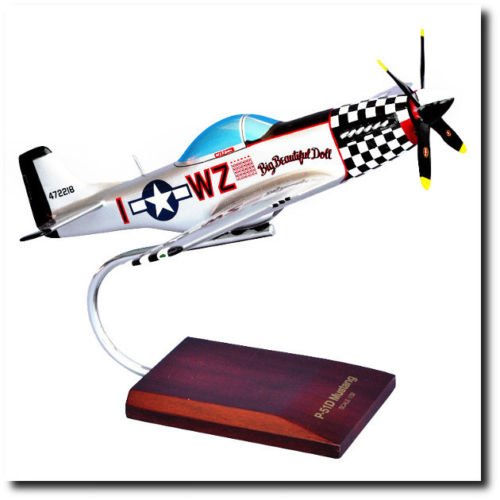 Planejunkie Aviation Desktop Model -North American P-51D Mustang Big Beautiful Doll - P-51d Doll Mustang Big Beautiful