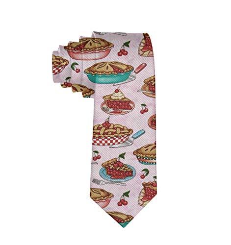 Formal Cherry Pies Pink Men Casual Costume Necktie Suit Bowtie ()