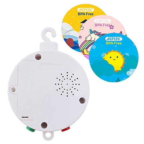 Baby Musical Mobile, AGPtek Battery-operated Baby Bedding Musical Mobile Plays Twelve Tunes