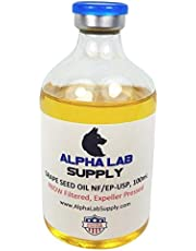 Alpha Lab Supply - Grape Seed Oil 100% Sterile Filtered USP Grade 100mL Glass Vial