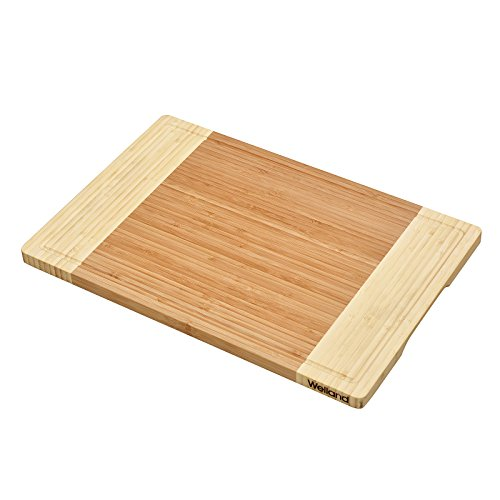 WELLAND Bamboo Cutting Board and Serving Tray with Juice Groove-Extra Large 18