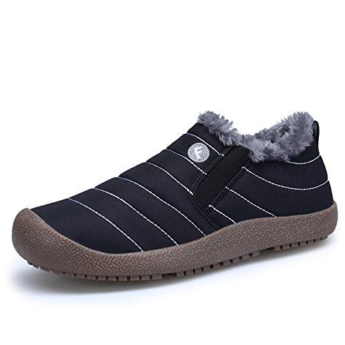Aire Boots Cortas Mujer DENGBOSN Botas Zapatos Invierno de Negro Nieve Libre Fur Botines x86qv6Sw