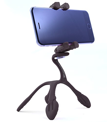 Gekkopod Smartphone Mount - Portable and Extremely Flexible Smartphone Mount that can be Set, Wrapped, Hung and Clung Practically Anywhere - Compatible with all Smartphones (Black)