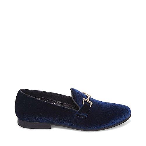 Steve Madden Men's Coine Slip-On Loafer Blue Velvet discount Manchester buy cheap for nice cheap prices ycsbF
