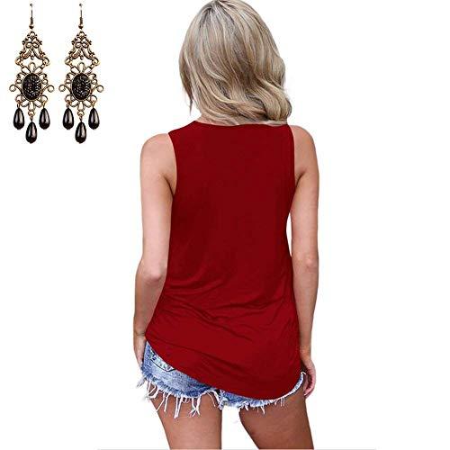 Mare Shirts Camicetta Puro Camicette Donna Eleganti Smanicato neck Off Colore Canotta Stlie Shoulder In Estivi Schwarz Alto Casual V Grazioso aT8zxnnqw