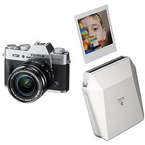 Fujifilm X-T20 Mirrorless Digital Camera w/XF18-55mmF2.8-4.0 R LM OIS Lens - Silver + Fujifilm Instax Square SP-3 White