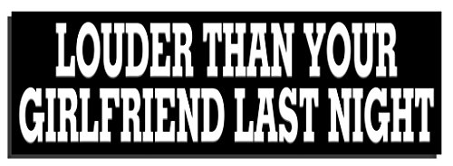 Louder than your girlfriend last night 1-9