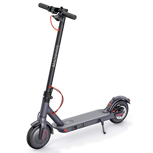 Macwheel Electric Scooter, Powerful 350W Motor, 18.6 Miles Long-Range Battery, Up to 15.6 MPH, 8.5' Non-Pneumatic Inner Foamed Rubber Tires, Portable Folding Design Commuting Motorized Scooter (MX1)