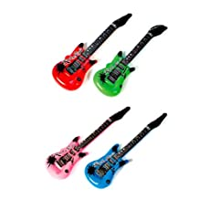 12-Pack Inflatable Rock Star Electric Guitar [Toy]