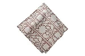 "Couleur Nature Caravan Collection Isabella Napkins (Set of 4), 20 by 20"", Brown"