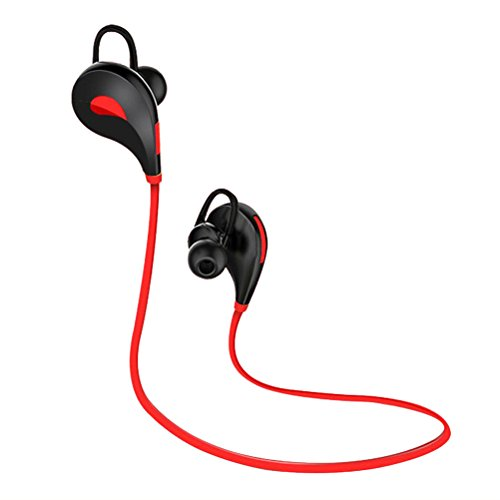 Elaco Bluetooth Wireless Handfree Headset Stereo Headphone Earphone Sport Universal (Red) (Corded Iphone4 Mic And Earbud compare prices)