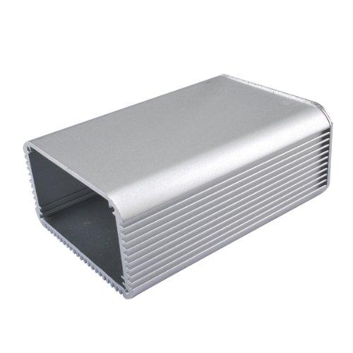 wlaniot Silver Aluminum Electronic Project Box Aluminum Enclosure Case Big for Instrument PCB Enclosure DIY -4.32