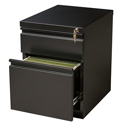 Office Dimensions Mobile Pedestal Box/File, 20-Inch Deep, Black