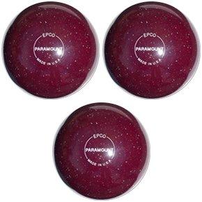 EPCO-Duckpin-Bowling-Ball-Speckled-Houseball-CranberryBalls-3-Balls