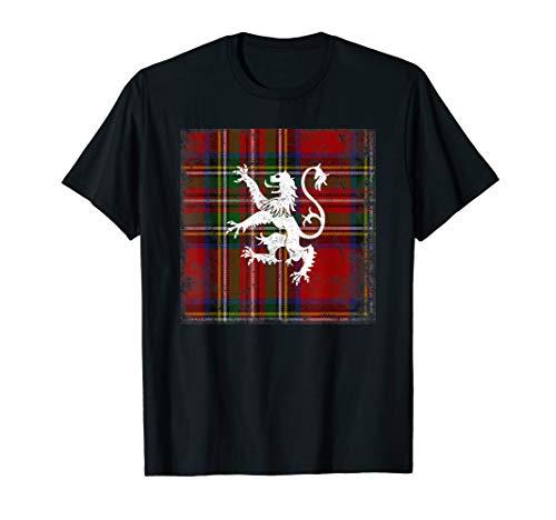 - Scottish Tartan Shirt Red Plaid Lion Royal Stewart Clan