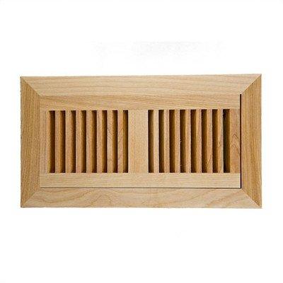 """6.75"""" x 12.25"""" Red Birch Wood Flush Mount Vent Cover"""