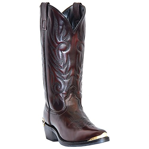 Laredo Mens Black Cherry Leather McComb R Toe 13in Cowboy Boots 13 D