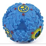 Slow Feeder Ball Dog Toy (Blue) - IQ Training Interactive Treat Puzzle, Treat Dispenser Pet Toy for Training Intelligence