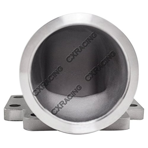 3 Vband T6 Turbo Stainless Steel 90 Degree Elbow Adapter Flange CXRacing