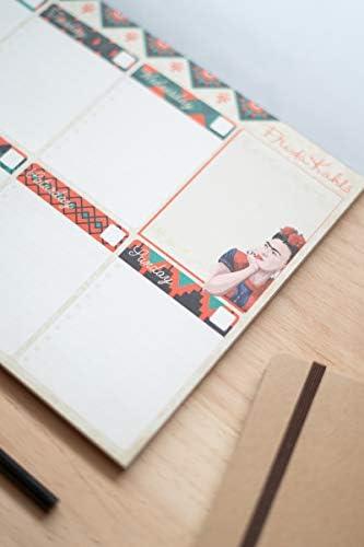 Bloc Planificador Semanal A4 Frida Kahlo Surr/éalisme Collection