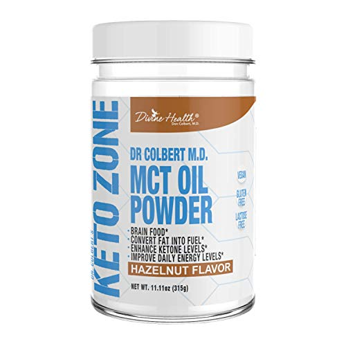 Dr.Colbert's Keto Zone MCT Oil Powder (Hazelnut Flavor) (300 Grams) (30 Day Supply) – Recommended in Dr. Colbert's Keto Zone – Alternative Coffee Creamer – Ketogenic – Dairy Free – Soy Free Review