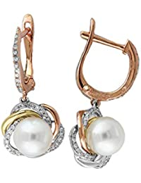 *CKstella*  14K Gold gf  Swirl Linear Dangle Ear Thread Threader Earrings