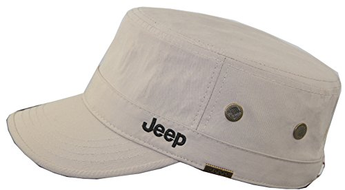 Jeep Unisex Adjustable Military Cap Hat (Apricot, Free Size) -