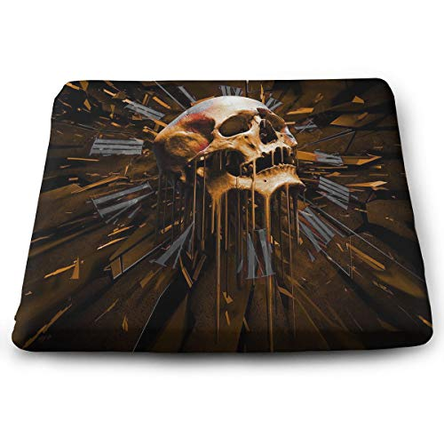 Comfortable Seat Cushion Chair Pad Thawing Skull Head Perfect Memory Foam Cushions Lighten The -