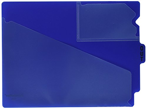 Pendaflex PFX13542 End Tab Vinyl Outguides w/Center Tab Printed Out, Letter Size, Blue, ()