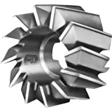 """F&D Tool Company 14524-A1624R Shell End Mills for Steel, High Speed Steel, 3"""" Diameter, 1.75"""" Width of Face, 1/2"""" Width of Drive Slot, 9/32"""" Slot Depth, 1.25"""" Hole Size"""