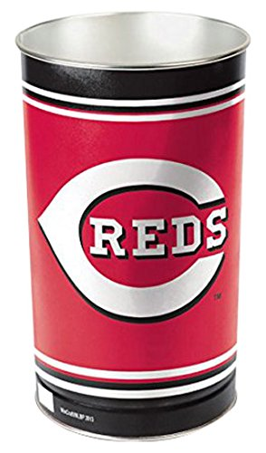 MLB Cincinnati Reds 15 Waste Basket, Team Color, One Size
