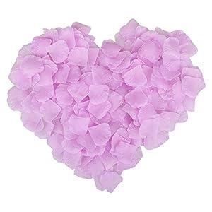 Ablest 1000 Pcs Wedding Bridal Shower Decoration Artificial Silk Flower Petals Light Purple 29
