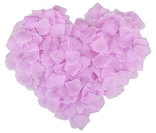 Party Decoration 1000 Pieces Silky Cloth Petal Pieces Light Purple