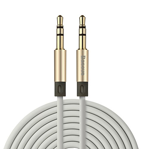 Price comparison product image OFC AUX Audio Cable,  Premium Audiophile Grade 3.5mm Gold Plated Male to Male Stereo Auxiliary Cord for Connecting Cellphone or Audio Players to Car Stereo / Headphones / Speakers (4ft / Gold)