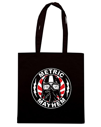 T-Shirtshock - Bolsa para la compra WC0498 Metric Mayhem Rider 2 Negro