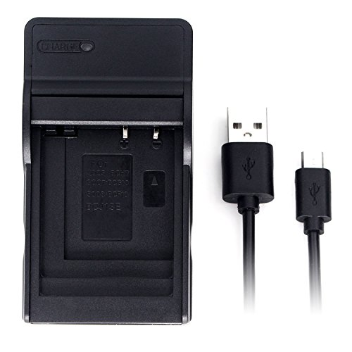DMW-BCG10 Ultra Slim USB Charger for Panasonic Lumix DMC-TZ10, DMC-TZ20, DMC-TZ22, DMC-TZ6, DMC-TZ7, DMC-TZ8, DMC-ZR1, DMC-ZR3, DMC-ZS1, DMC-ZS3, DMC-ZS5, DMC-ZS7, DMC-ZX1, DMC-ZX3 Battery and More