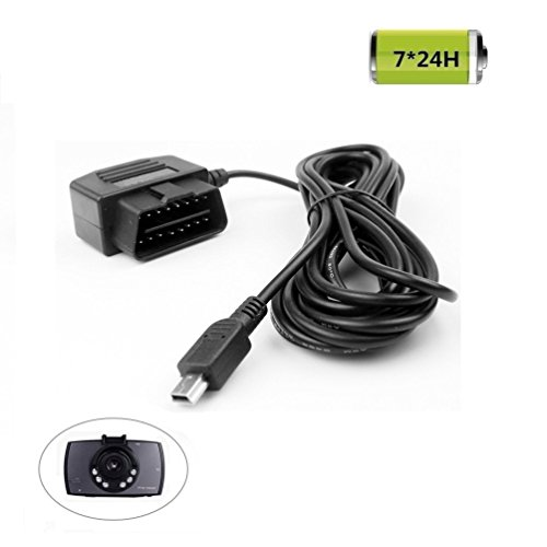 REARMASTER Universal OBD Power Cable for Dash Camera,24 Hours Surveillance/Acc Mode with Switch Button