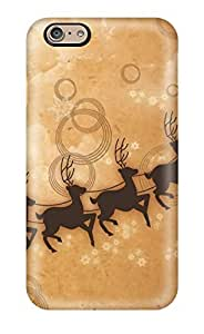 For Iphone 6 Premium PC Case Cover Christmas Clip Art Protective Case