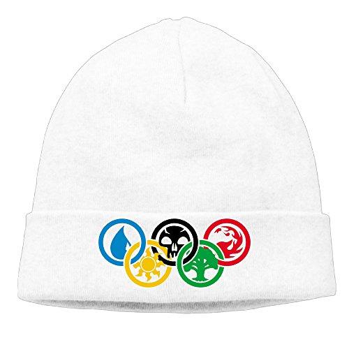 DETO Men's&Women's Magic The Gathering Patch Beanie SkiingWhite Caps