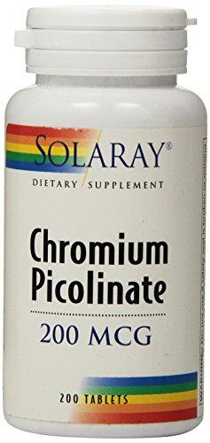Solaray Chromium Picolinate Tablets, 200 mcg, 200 Count