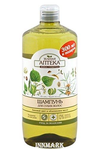 59287 Champú para cabello seco Linden flores y mar Buckthorn aceite 1000 ml verde farmacia: Amazon.es: Belleza