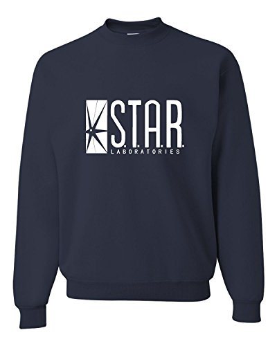 Medium Navy Adult Star Labs Sweatshirt Crewneck