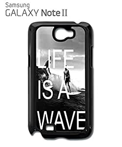 Life is a Wave Surfing Surfer Mobile Cell Phone Case Samsung Note 2 Black
