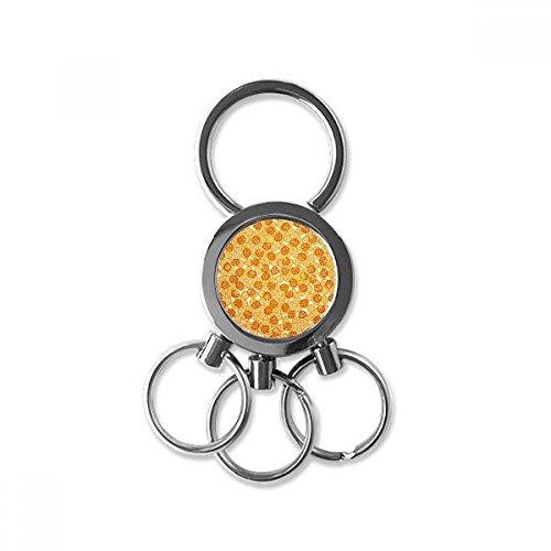 Wheel Shape Keychain - Wheel Shape Snacks Delicious food Wallpaper Metal Key Chain Ring Car Keychain Trinket Keyring Novelty Item Best Charm Gift
