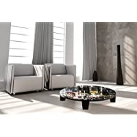 TAF DECOR TAF-ATSVN015A Pop City 8 Art Coffee Table, 35 x 35 x 7.5