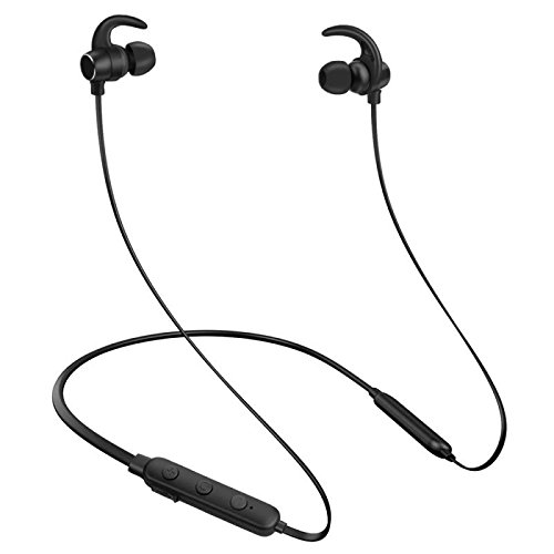 Bluetooth Wireless Headphones,RightHereListening Earphones Wireless 4.1 Magnetic Earphones Headphones Sweatproof Stereo Wireless Earbuds Noise Cancelling Wireless Earphones Fit for Gym Sports (Black)